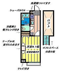 埼玉県さいたま市北区本郷町の賃貸アパートの間取り
