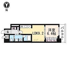 リーガル京都五条大宮502 5階1LDKの間取り