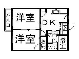 ケイ・川高[101号室]の間取り