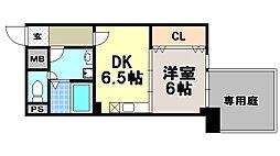 京都府京都市上京区西船橋町の賃貸マンションの間取り