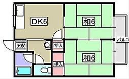 エコート長沢[2階]の間取り