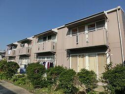 愛知県北名古屋市九之坪市場の賃貸アパートの外観
