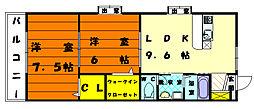 福岡県福岡市東区西戸崎4丁目の賃貸アパートの間取り