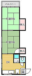 プチフィールド大間野[2−5号室]の間取り