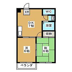 ヴィラロイヤルYUKI[4階]の間取り
