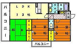 ソレーユ21[2階]の間取り