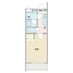 (仮称)ヴェルデ中野哲学堂 1階1Kの間取り