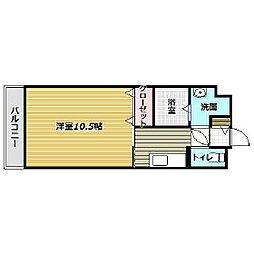 アップウェル中央[5階]の間取り
