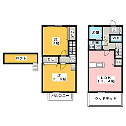 [テラスハウス] 愛知県みよし市根浦町2丁目 の賃貸【/】の間取り