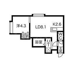 ロテュス27[2階]の間取り