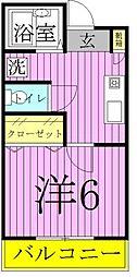 リリックコート梅田[206号室]の間取り