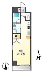 サムティ東別院RESIDENCE[8階]の間取り
