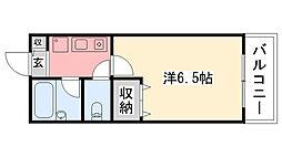 コンフォート甲子園[306号室]の間取り