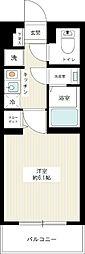 JR山手線 池袋駅 徒歩15分の賃貸マンション 4階1Kの間取り