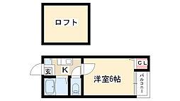 愛知県名古屋市瑞穂区姫宮町1丁目の賃貸アパートの間取り