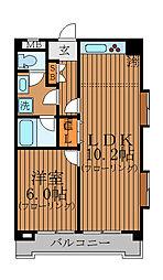 東京都杉並区本天沼1丁目の賃貸マンションの間取り