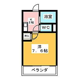 メゾン・マ・シャンブル[2階]の間取り