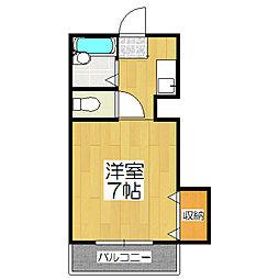 ミヤギマンション[206号室]の間取り