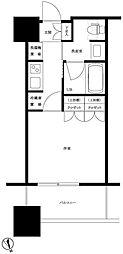 JR山手線 大崎駅 徒歩8分の賃貸マンション 6階1Kの間取り