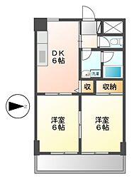 愛知県名古屋市中川区西日置町の賃貸マンションの間取り