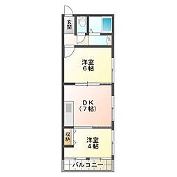 山口コーポ[2階]の間取り