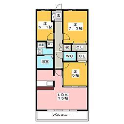 グラン・アベニュー富船[4階]の間取り