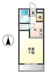 愛知県名古屋市熱田区青池町2丁目の賃貸マンションの間取り