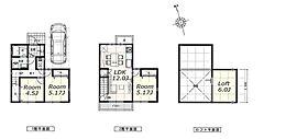 建物参考プラン:間取り/3LDK、延床面積/66.24?、土地建物参考価格/5580万円(税込)
