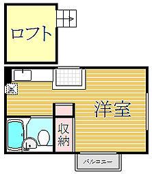 アップルハウス白楽2[1階]の間取り