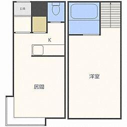ベル澄川B棟[2階]の間取り
