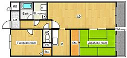クーリエ70[2階]の間取り