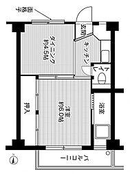 ビレッジハウス久保1[4階]の間取り