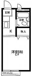 神奈川県川崎市麻生区百合丘1の賃貸アパートの間取り