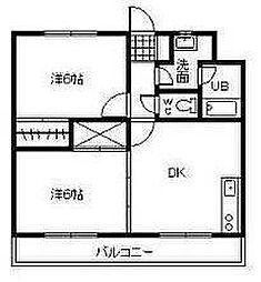宮崎県宮崎市吉村町の賃貸アパートの間取り