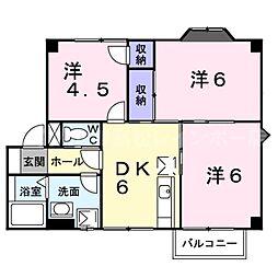 香川県高松市郷東町の賃貸アパートの間取り