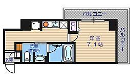 大阪府大阪市西区北堀江1丁目の賃貸マンションの間取り
