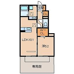 D-roomすぎうら[1階]の間取り
