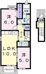 ヴァンベール[2階号室]の間取り