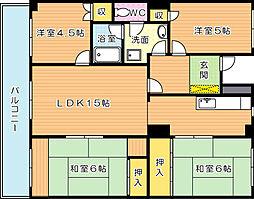 東峰マンションハイツ幸神(分譲賃貸)[5階]の間取り