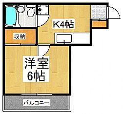 メゾンピュア[3階]の間取り