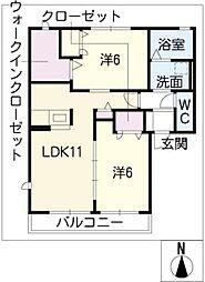 ルネーレ[2階]の間取り