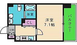 JPレジデンス大阪城東II 3階1Kの間取り