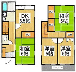[一戸建] 東京都東村山市多摩湖町4丁目 の賃貸【/】の間取り