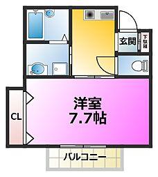 篠崎パークサイド2[102号室]の間取り