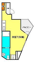 京王線 武蔵野台駅 徒歩5分の賃貸アパート 1階ワンルームの間取り