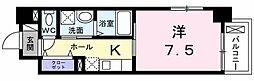 小田急小田原線 町田駅 徒歩8分の賃貸マンション 1階1Kの間取り