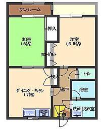 ベルコリーヌ横川[2階]の間取り