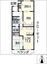 セピアコート21[3階]の間取り