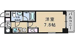 アーデン京町堀ウエスト[3階]の間取り