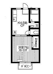 ファミール京屋B[2階]の間取り